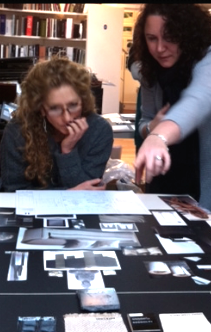 Kimberly presenting an interior project to Kelly Hoppen, renowned English Interior Designer and Author.