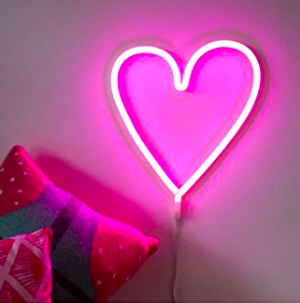Pink Love Heart Neon Light - For the one who gets lit. How cute is this pink LED light? The perfect accessory to add on the wall of anyones beauty set up. Think of the sparkly reflection this light would give off bouncing off your Gypsy Shrine glitter collection!
