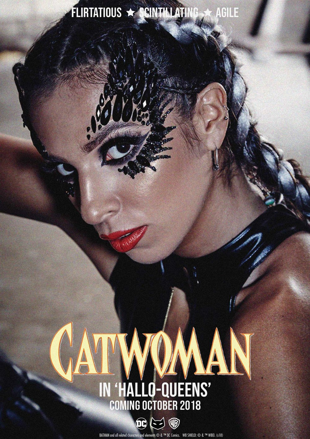 Catwoman - Agile and confident, Catwoman has the purrr-fect balance of seductive feline charm! Lurking in the shadows and stealing hearts for a living, she's the ultimate Hallo-Queen!