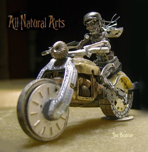 Motorcycle riderSue Beatrice | Watch Parts Sculptures
