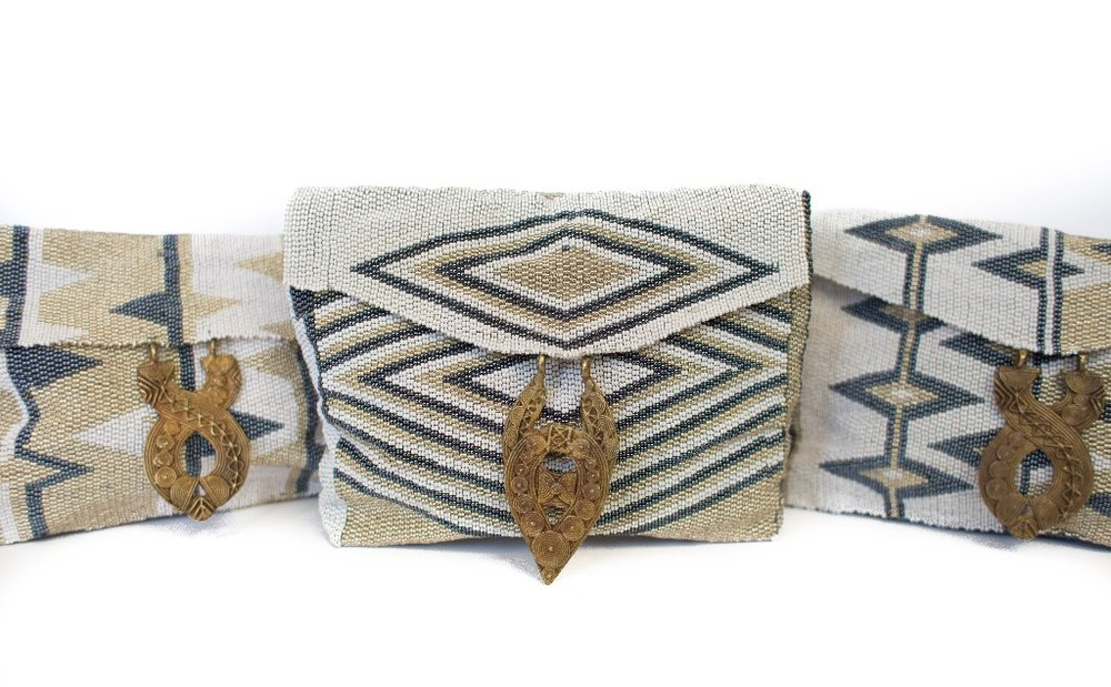 Antassia Beaded Bags in neutrals.  $195  Other colors available  here!