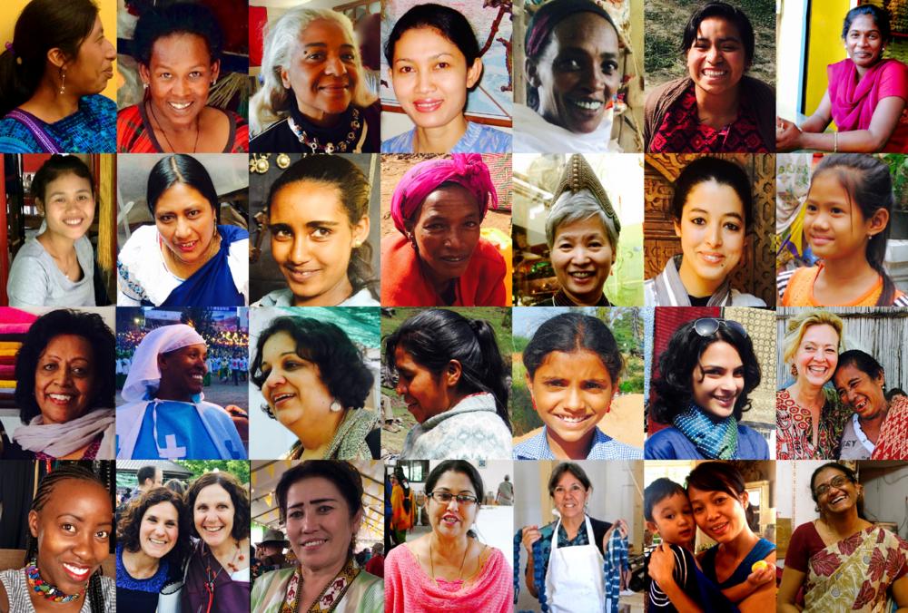 women living the change in Mexico, Ethiopia, Morocco, Bali, Ethiopia, Mexico, Laos, Ecuador, Thailand, Guatemala, Kenya, Uzbekistan, India, Peru, Timor