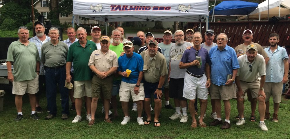 Big M Bassmaster reunion at Buggs Island talking old times and fellowship, Thanks Cavin Young for all your hard work !