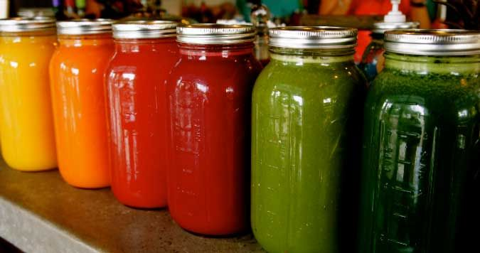 Fresh juices are beneficial - provided the fruit:vegetable ratio are 1:4.