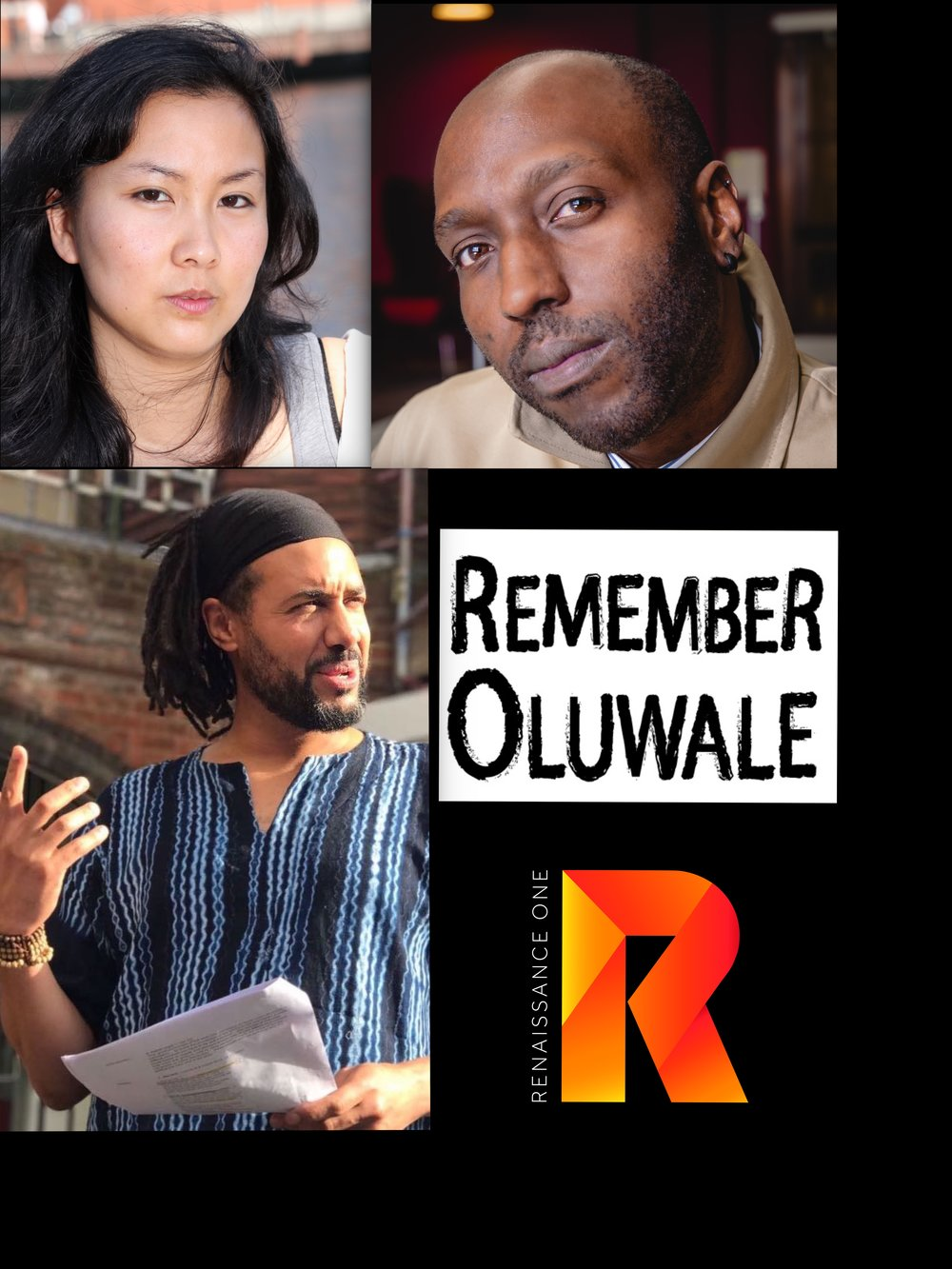 (L - R clockwise) Naomi Sumner Chan, Kei Miller, David Oluwale Memorial Association, Sai Murray