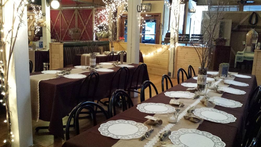 2 tables,brown,w front doors in view.jpg