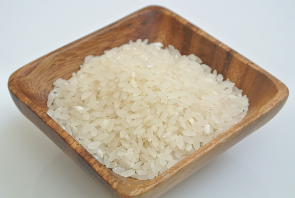 White rice is a refined milled grain which the husk,  germ and bran have been removed. This process prevents storage.
