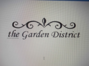 The Garden District http://www.gardendistrict.org Contact: Linda Coessner catering@gardendistrict.org 409.883.9889