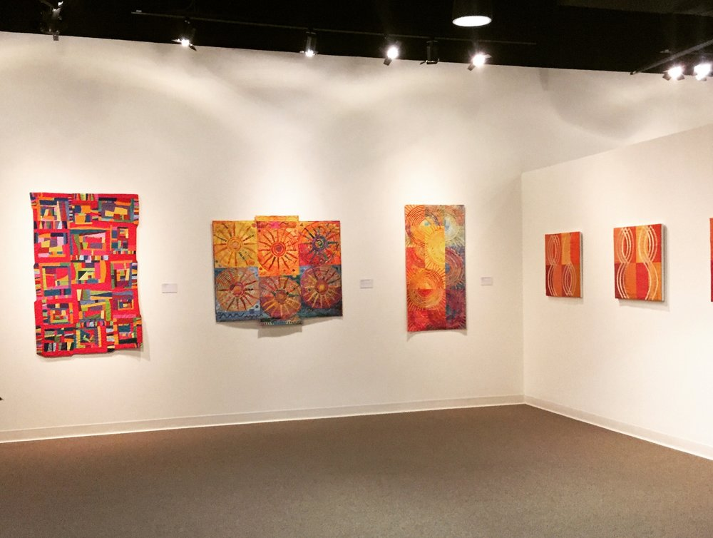 On Exhibit - (Center)Quilts: Sunshine State of Mind, and Sunshine State of Mind IIat Ruth Funk Center for Textile Arts