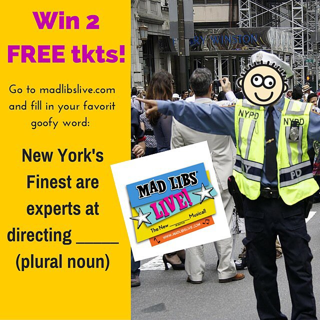 "Today""s challenge: go to Madlibslive.com (click the link on our profile)  and win 2 free tix! Tell your pals @santeeni @mjoseph492 @jean_crd @ziggery_piser @lorenpom #madlibslive #nyctheatre #nycevents #madlibs #offbroadway #newworldstages"