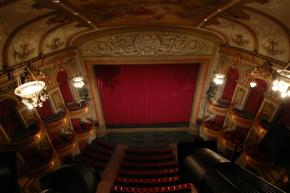 Interior of the Wells Theatre 2015