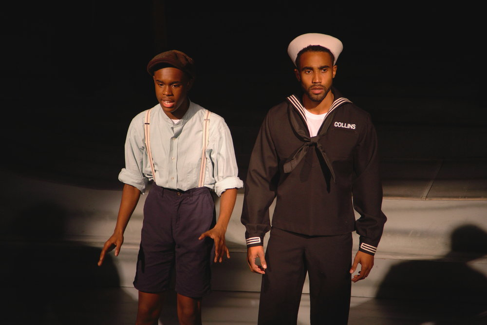 Tavon Olds-Sample and Jonathan Burke in I Sing the Rising Sea