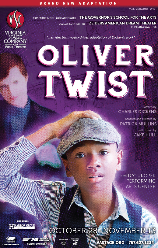 The updated version of the Oliver Twist poster that better reflects the feel of the show, featuring cast members!