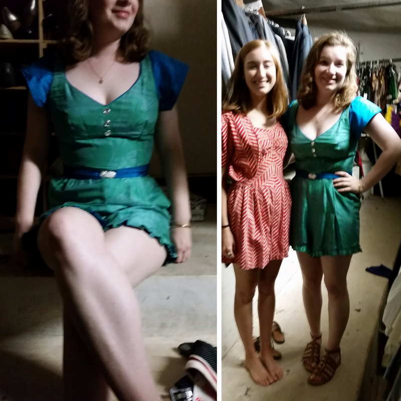 A couple super blurry images from costume storage before the  Rising Sea  shoot.