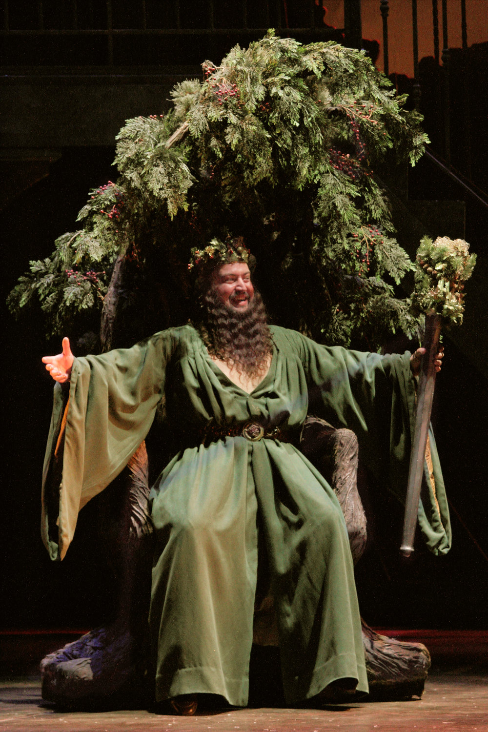 "Bruce Warren  as the ""Ghost of Christmas Present"" in Virginia Stage Company's  A Christmas Carol . (Season 38)"