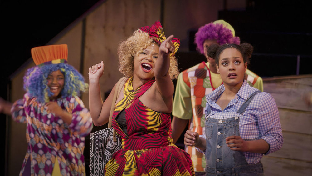 "Meredith Noel as Addaperle, left, and Alana Houston as Dorothy in ""The Wiz"""