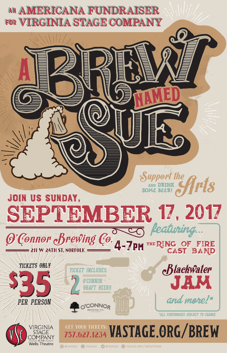 A BREW NAMED SUE concert poster beer music