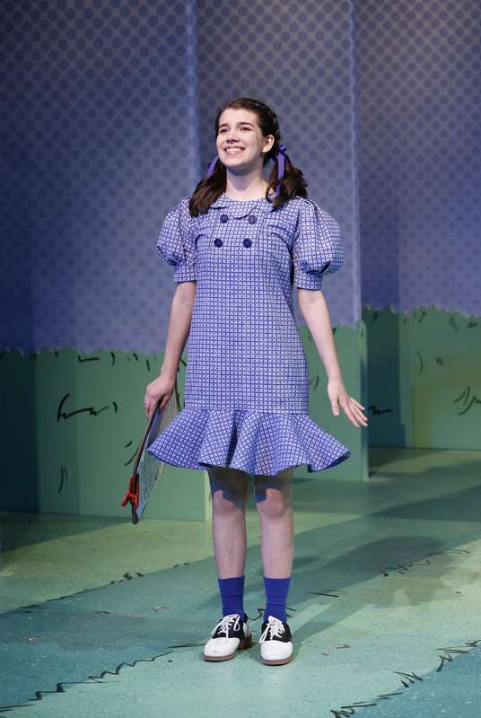 Costume design for  You're a Good Man, Charlie Brown , written by Clark Gesner.  Mavis Simpson-Ernst as Lucy.  Photo Courtesy of Grier Coleman