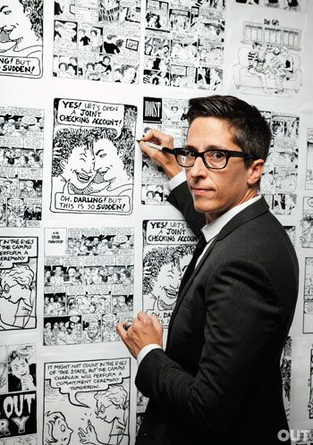 Alison Bechdel, Photo by M. Sharkey for  Out