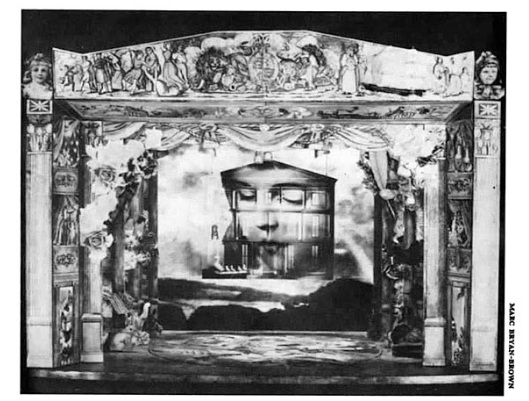 A model of Heidi Landesman's Broadway set for  The Secret Garden.