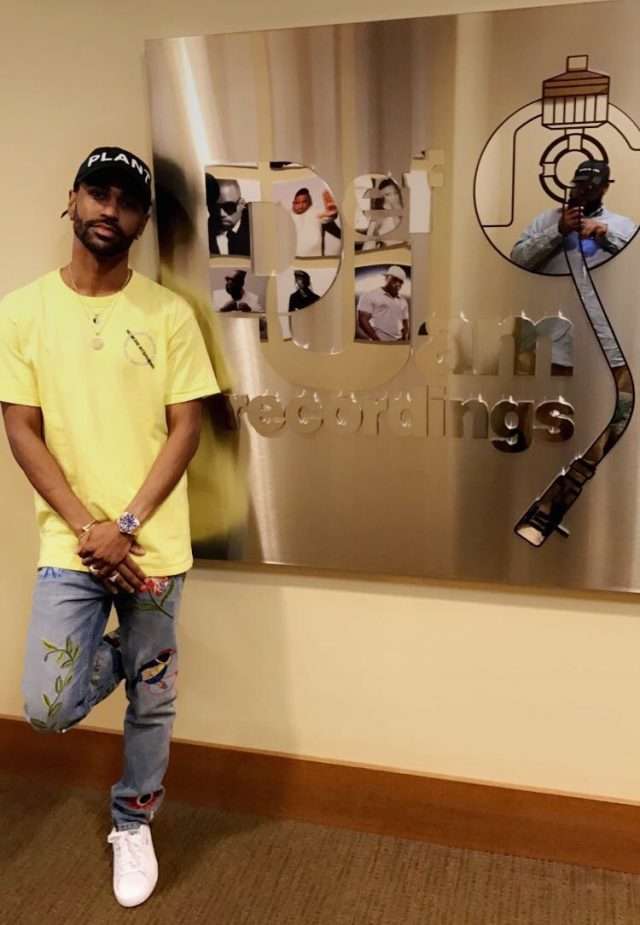 Big Sean in a CPFM hat C/O Notey