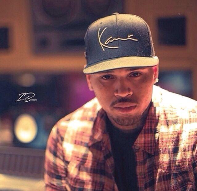 Chris Brown in Karl Kani via Ivan Berrios