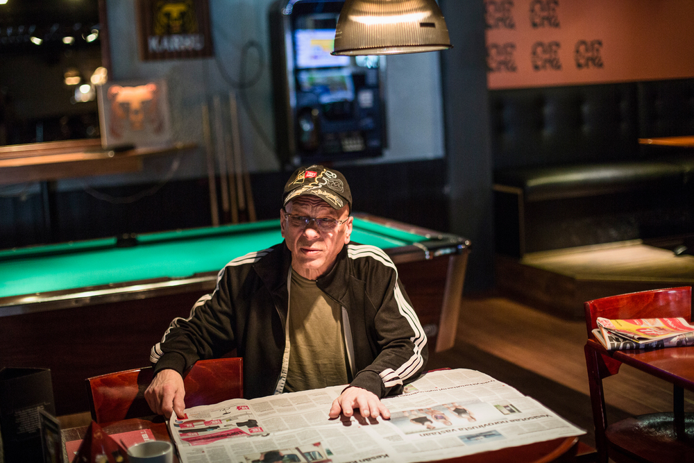 Ville Syrjänen in bar Ohrantähkä.  © Maaseudun Tulevaisuus.