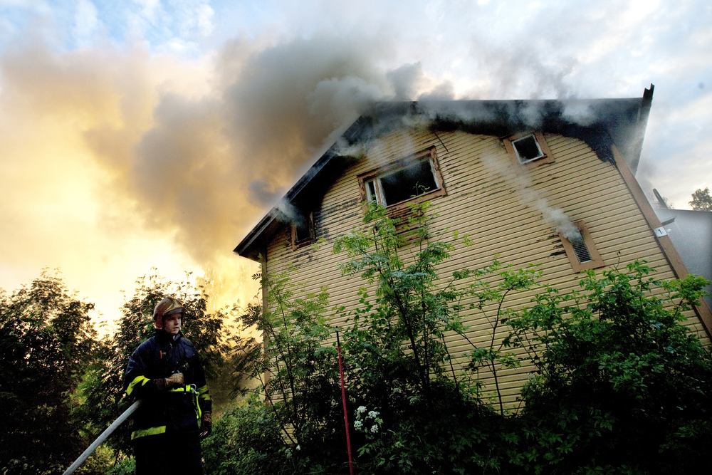 House is on fire in Sotkamo.  © Kainuun Sanomat