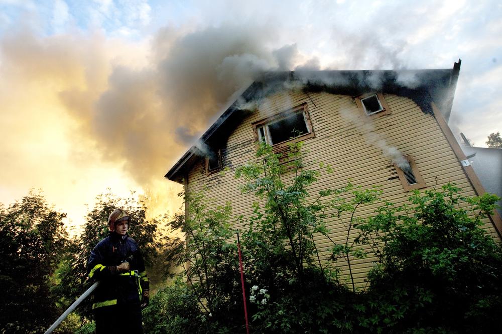 House is on fire in Sotkamo.  © Kainuun Sanomat