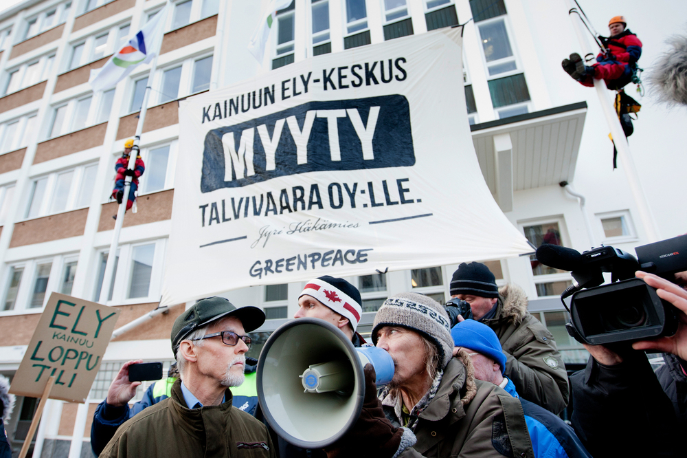 Demonstration against Talvivaara nickel mine in Kajaani.  © Kainuun Sanomat