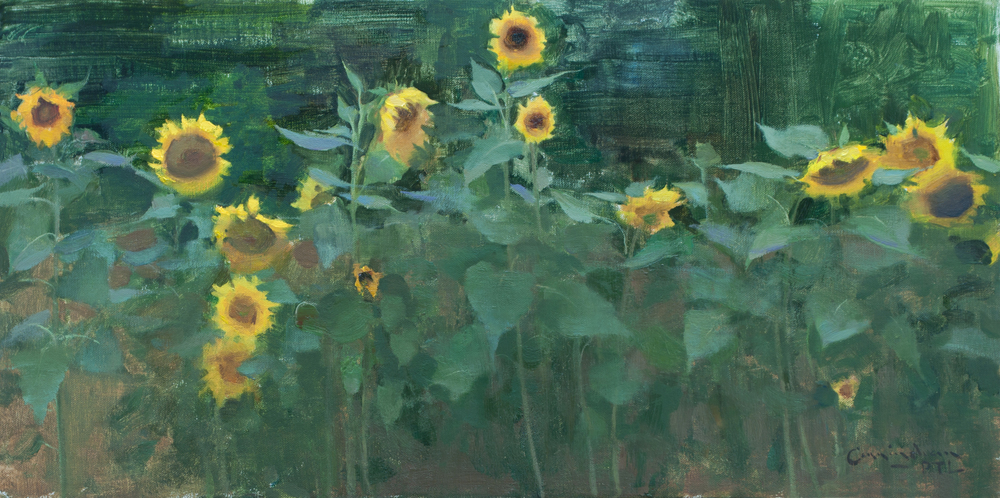 """""""Old Seeds"""" Oil on Linen, 12x24 Inches, 2015."""