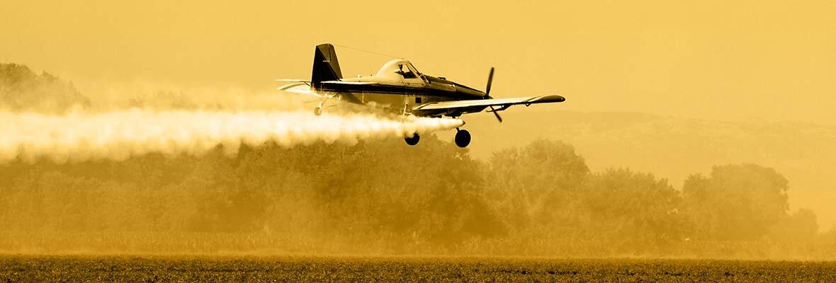 Crop Duster Spraying DDT
