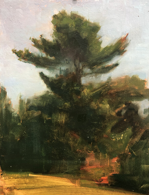 Here is an image of the most helpful plein air from the stack it helped me create an authentic looking pine tree.