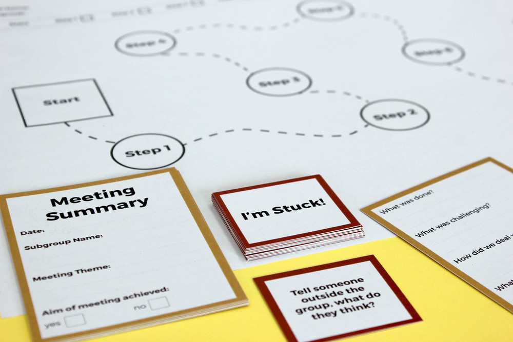 Design game prototype - helps community groups break down meetings into clear steps