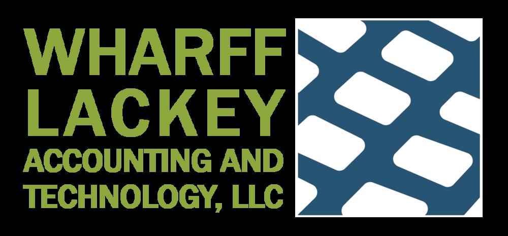whaff lackey accounting and technology: logo, marketing materials