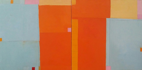 Ana Rendich -Unmoved by What the Wind does  number III -diptych , size 24 H x 48 W, oil on canvas, price  $ 2,800.jpg