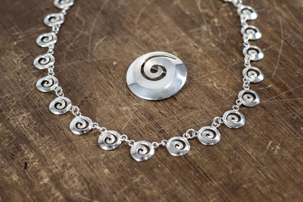 Sterling Silver Koru Necklace + Pendant