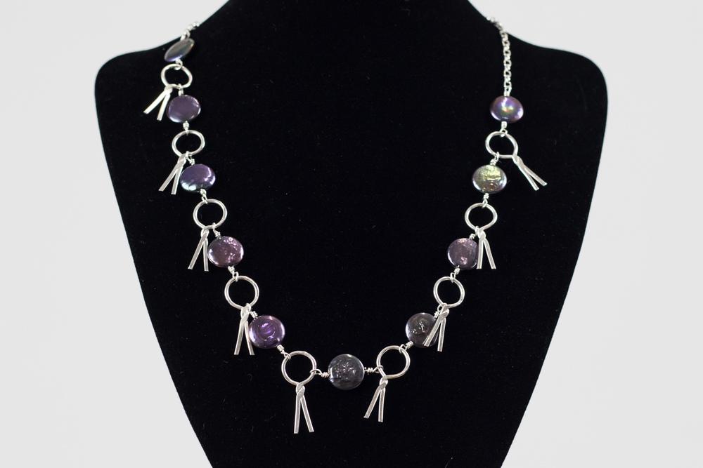 Sterling Silver + Black Pearl Pendant