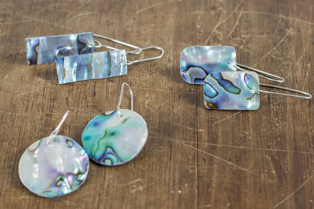 Sterling Silver + Paua Earrings