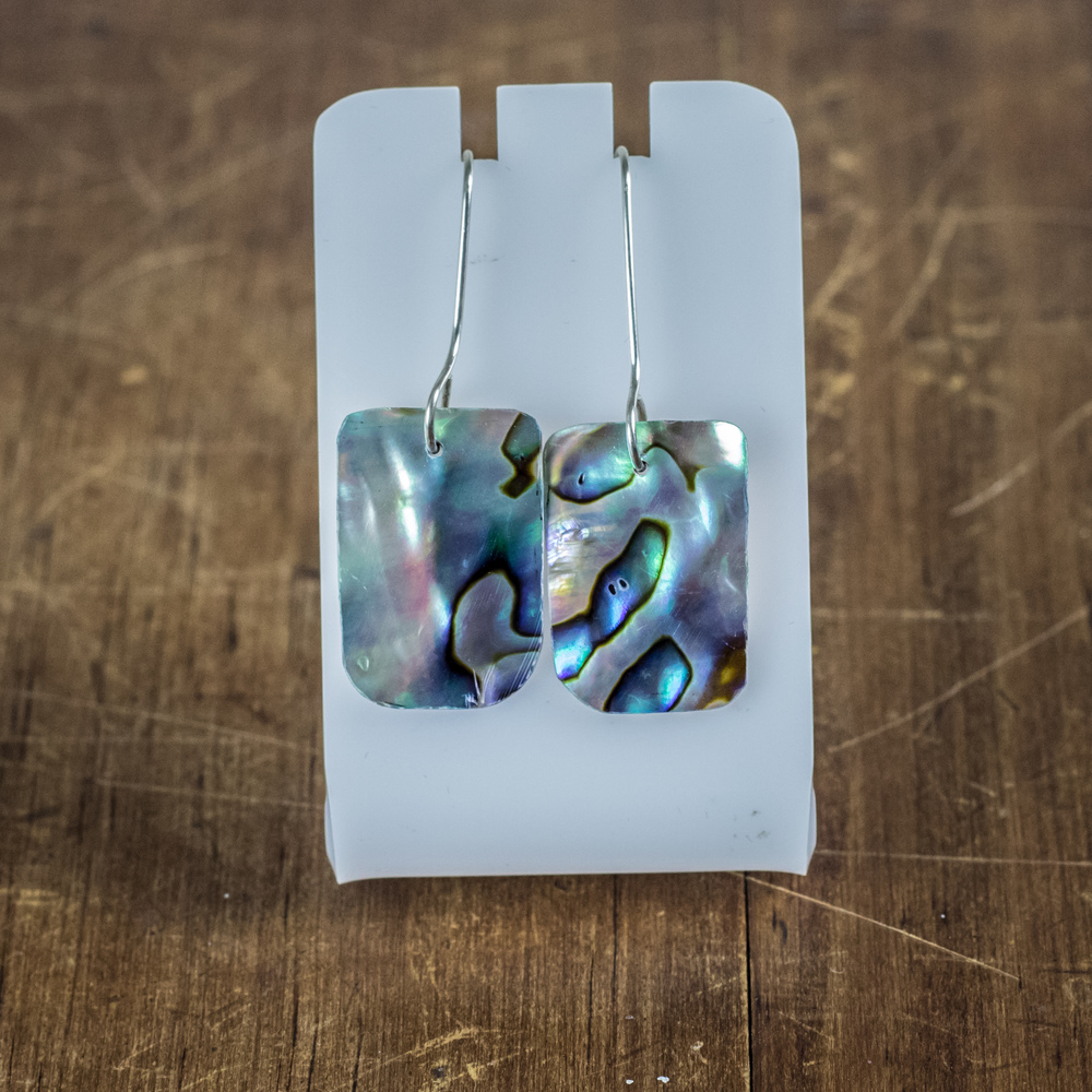 Sterling Silver + Paua Earrings 2