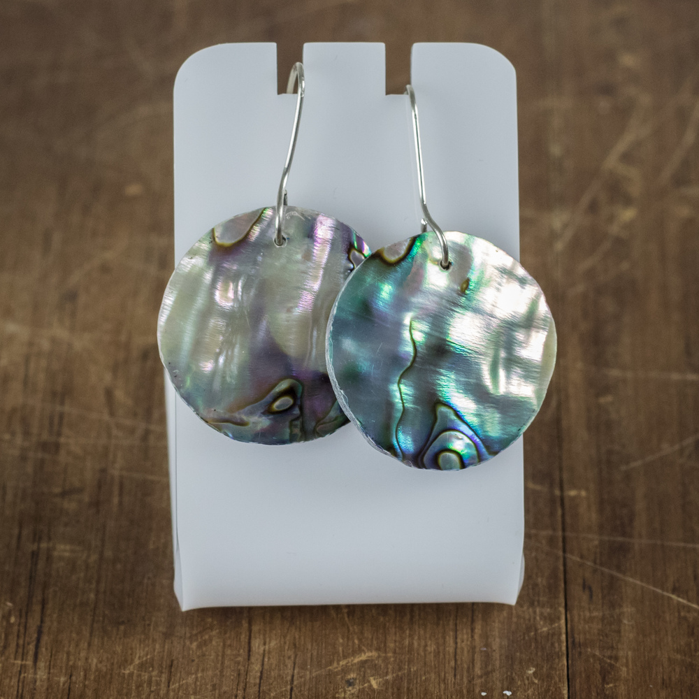 Sterling Silver + Paua Earrings 3