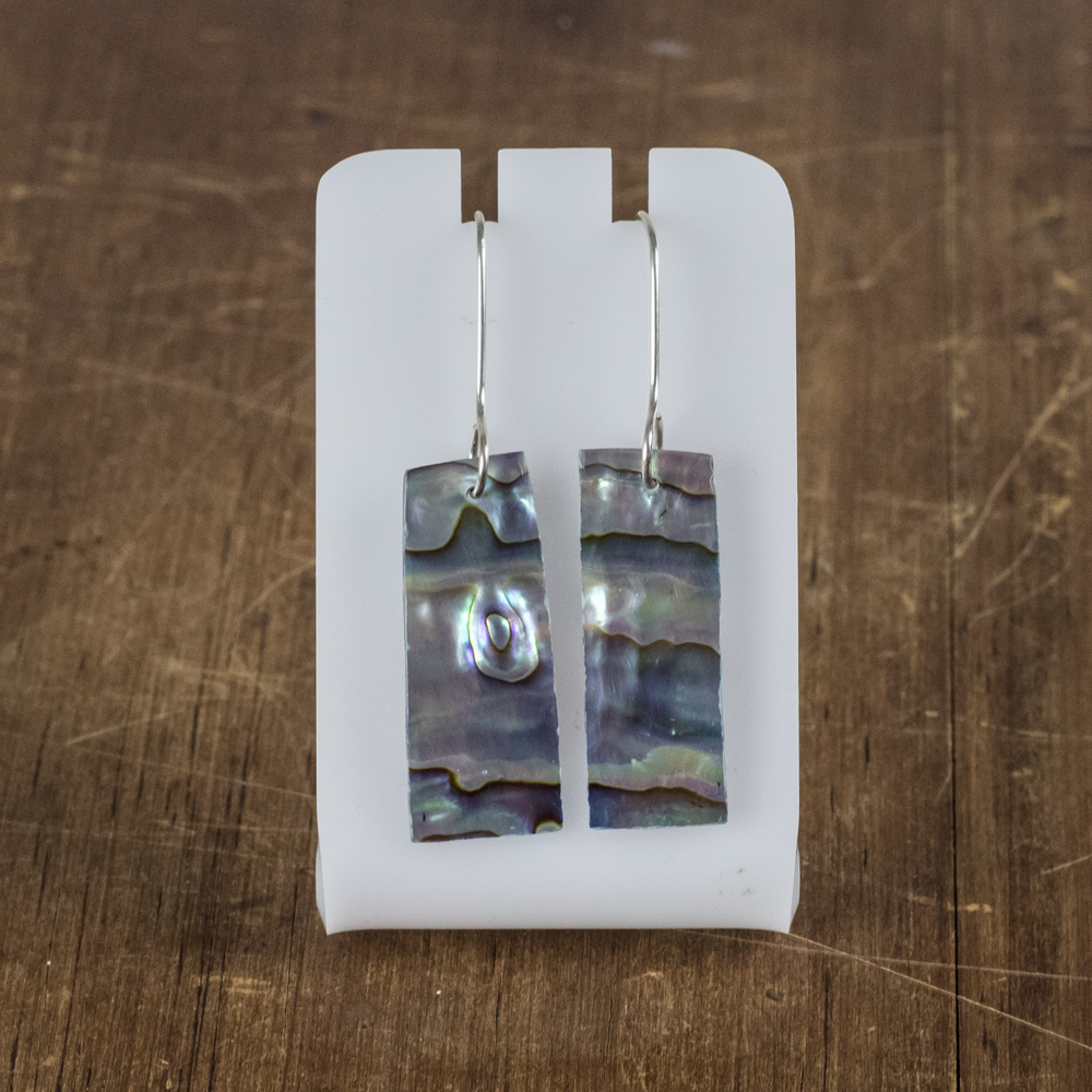 Sterling Silver + Paua Earrings 4