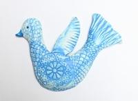 Wall Bird Pale Blue