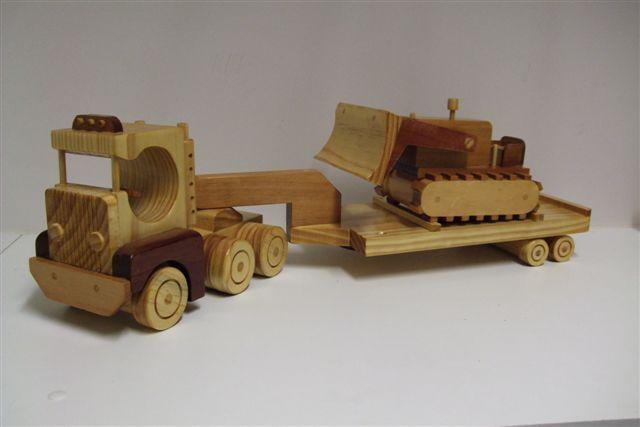 Truck, Trailer & Bulldozer