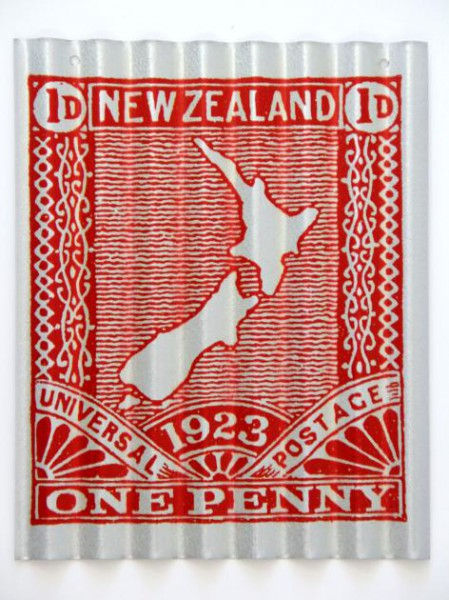 NZ Map Stamp - Corru Art