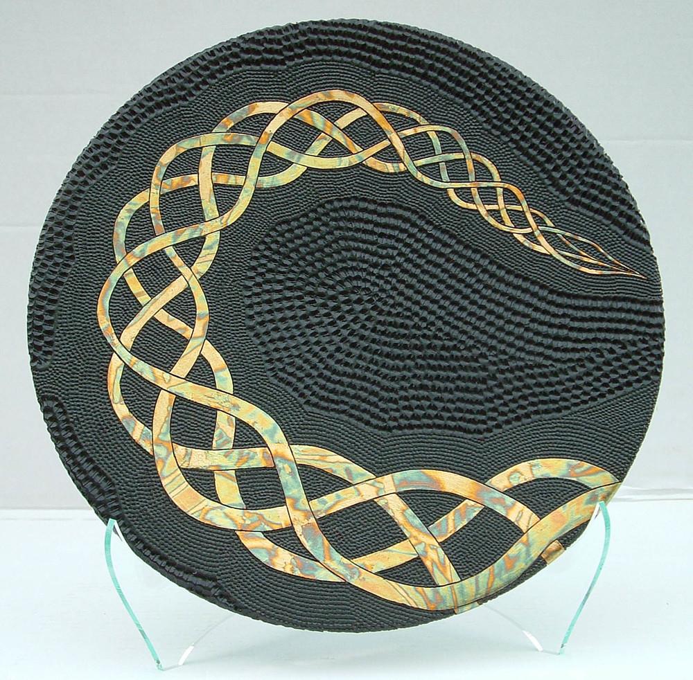 Lifes Path - Copper Foil & Kahikatea Wood