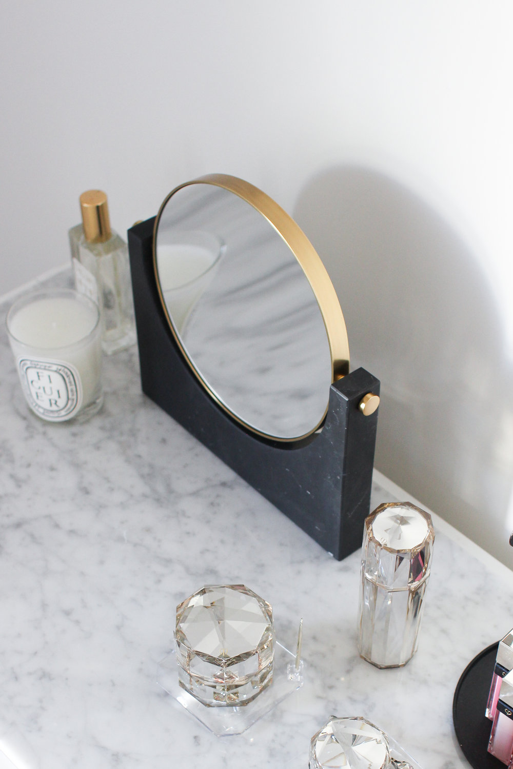 In collaboration with  Lumens Light and Living  | Pepe Marble Mirror by Menu