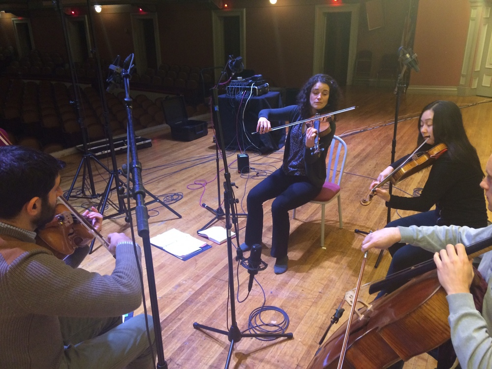 Bartok 6th quartet recording at Troy Savings Bank Music Hall, January 2016