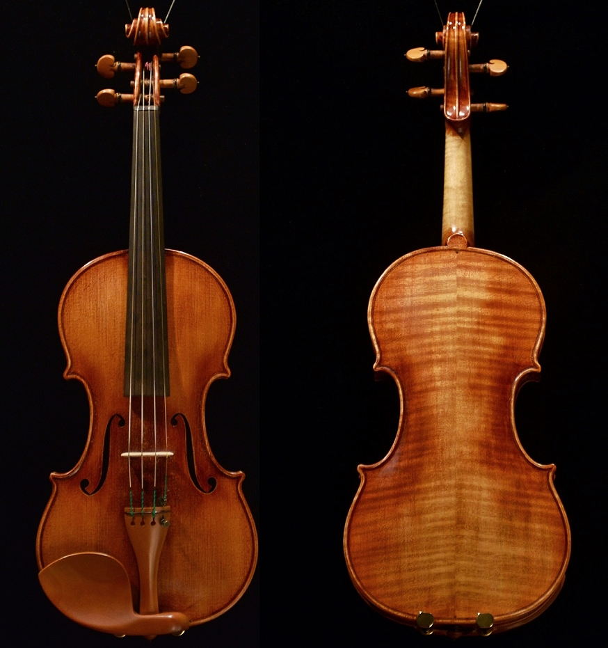 Violin by K e i t h H i l l Opus 4 7 0 made in 2 0 1 5