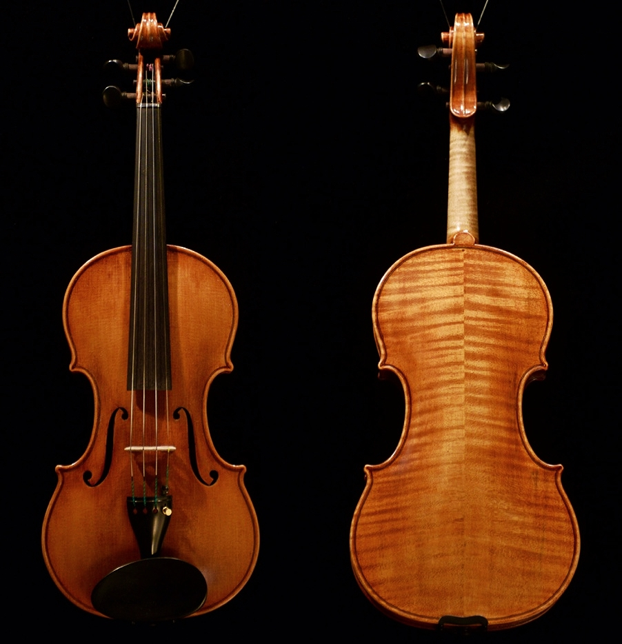 THIS VIOLIN WAS MADE by K e i t h H i l l Opus 4 6 1 in 2 0 1 4